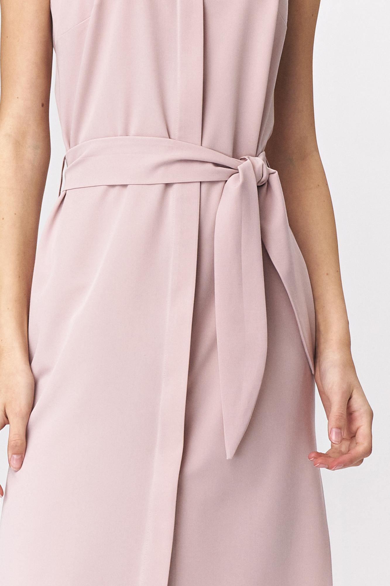 Nife - Różowa sukienka szmizjerka  5
