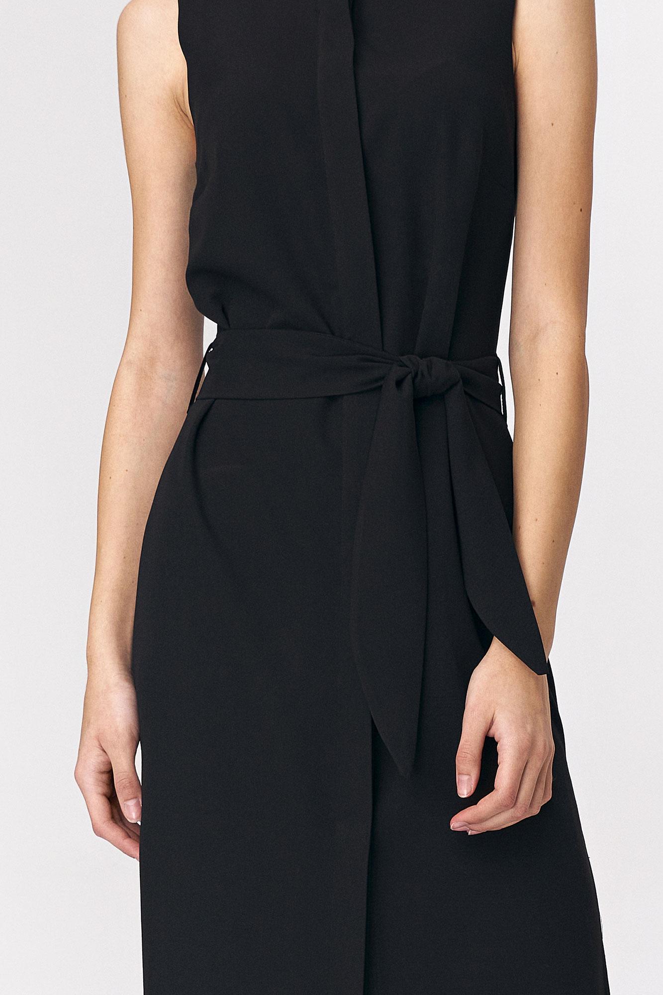 Nife - Czarna sukienka szmizjerka 4