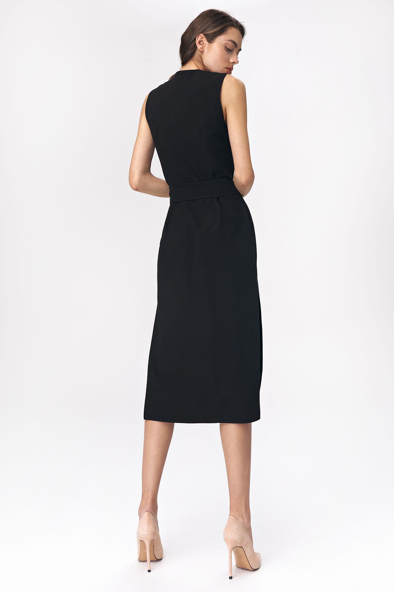 Nife - Czarna sukienka szmizjerka 2