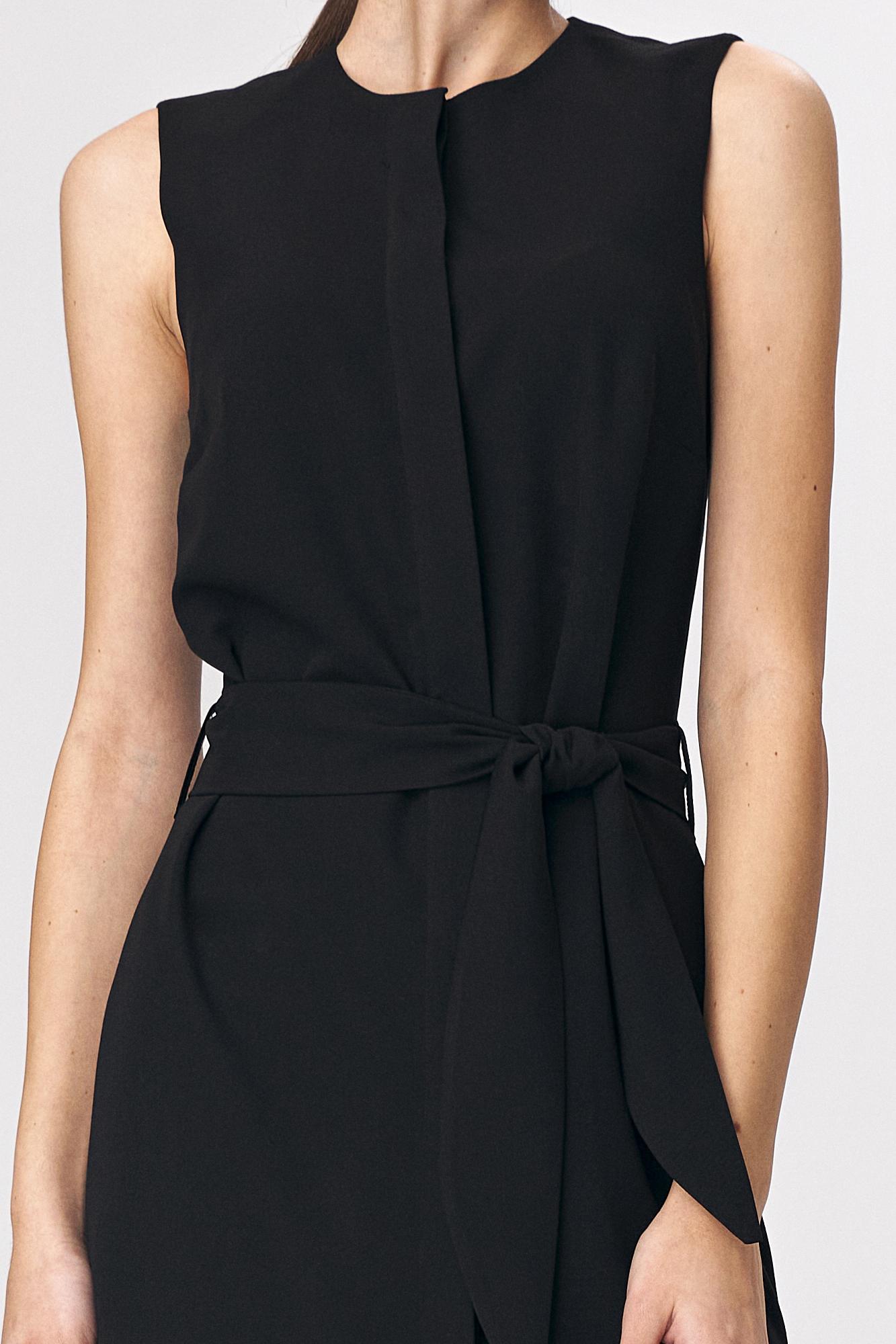 Nife - Czarna sukienka szmizjerka 6