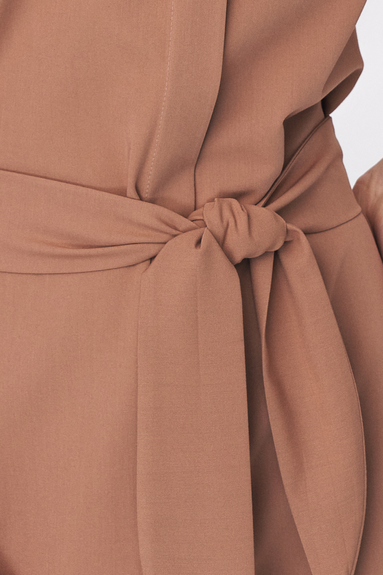 Nife - Karmelowa sukienka szmizjerka 4