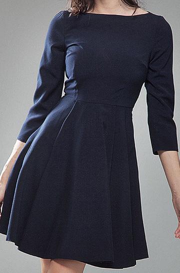 S19 granatowa - sukienka - Nife