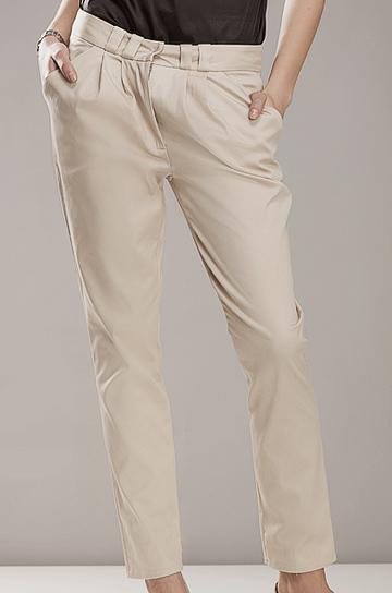 Sd01 beżowe - spodnie - Nife