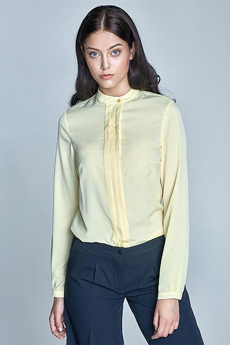 Nife - Bluzka z zakładkami - żółty