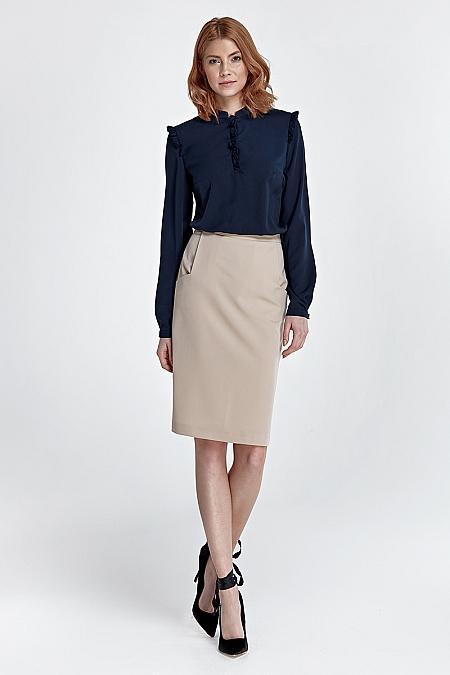 Nife - Zwężana spódnica z kieszeniami - beż