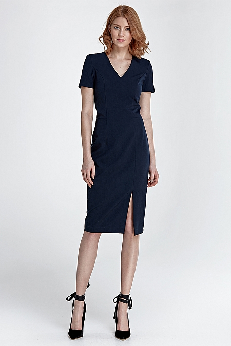 Nife - Sukienka z zamkiem na plecach - granat
