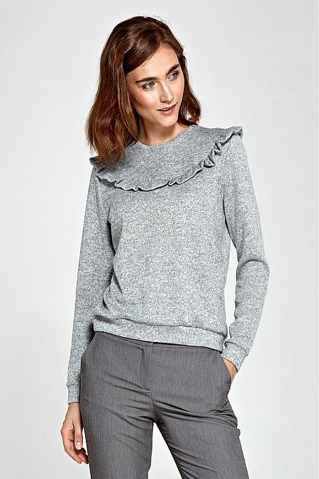 Nife - Sweter z falbankami - szary