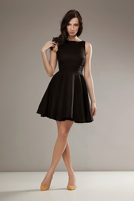 Nife - Stylowa sukienka AUDREY - czarny
