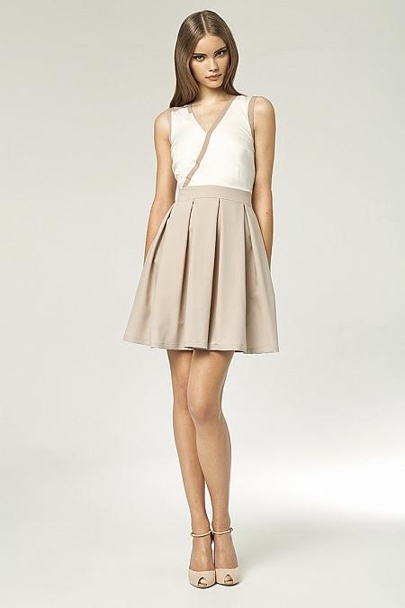 Nife - Sukienka s42 - beż/ecru