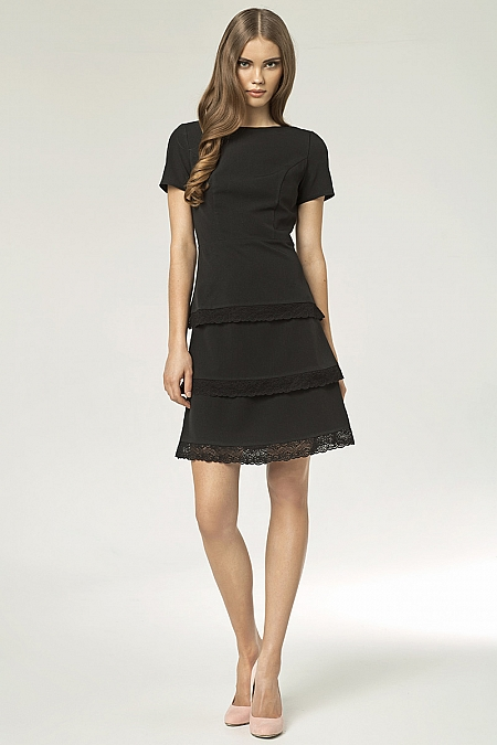 Nife - Sukienka s43 - czarny