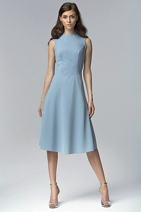 Nife - Sukienka s62 - niebieski