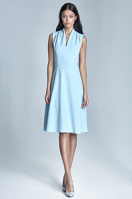 Nife - Sukienka Spring - błękit