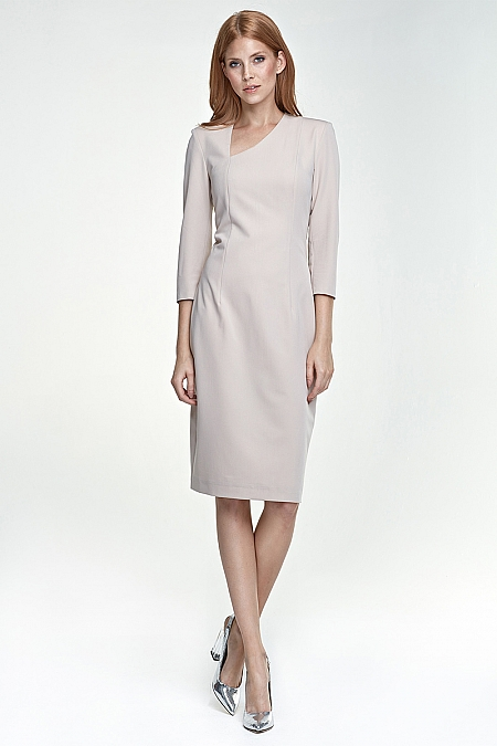 Nife - Sukienka s76 - beż