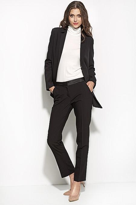 Nife - Czarne eleganckie spodnie sd16 - czarny