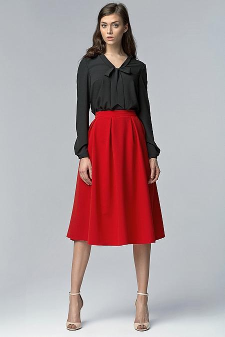 Nife - Spódnica sp27 - czerwony
