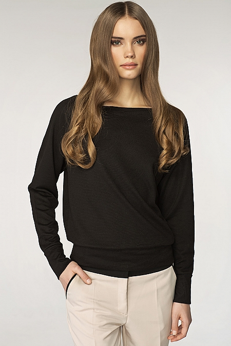 Nife - Sweter sw01 - czarny