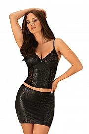 Obsessive Felisita corset & skirt - czarny