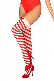 Wzorzyste Obsessive Kissmas stockings - foto