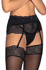 Obsessive Klarita garter belt - czarny