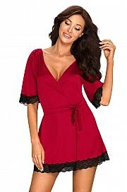 Obsessive Sensuelia robe - czerwony