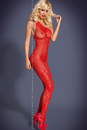 F203 Red - bodystocking - Obsessive