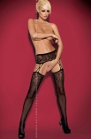 Garter stockings S206 - pas i pończochy - Obsessive
