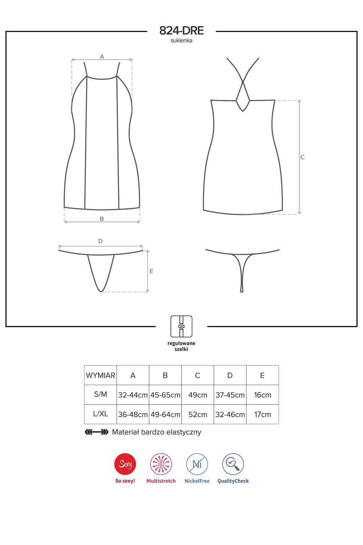 Komplet Obsessive koszulka+stringi 824-DRE-1 - zoom