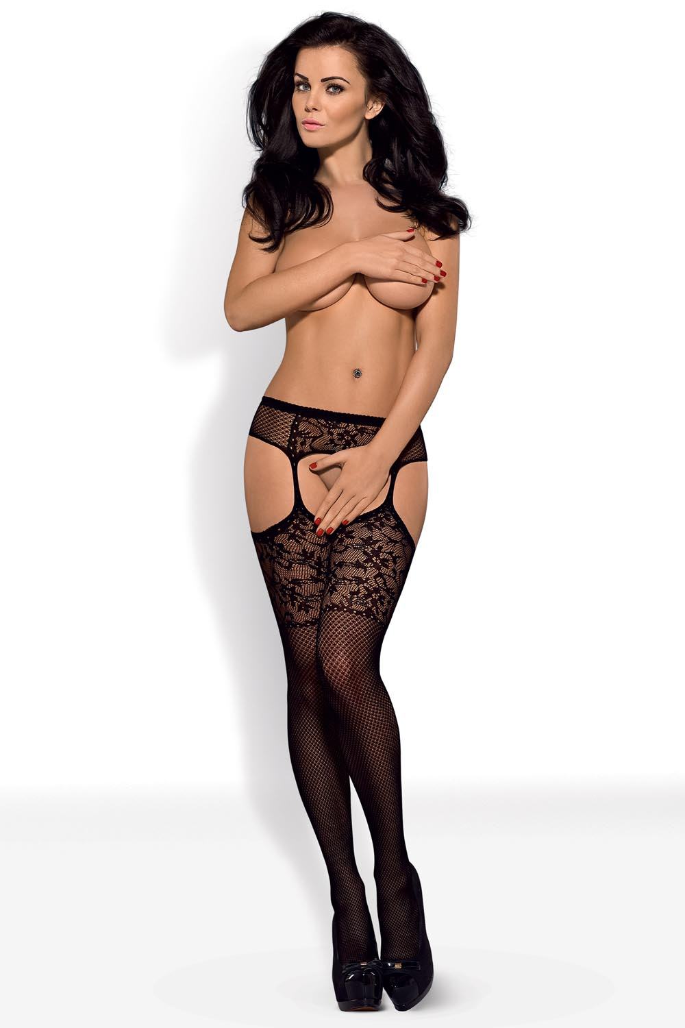 kabaretka Obsessive Garter stockings S211