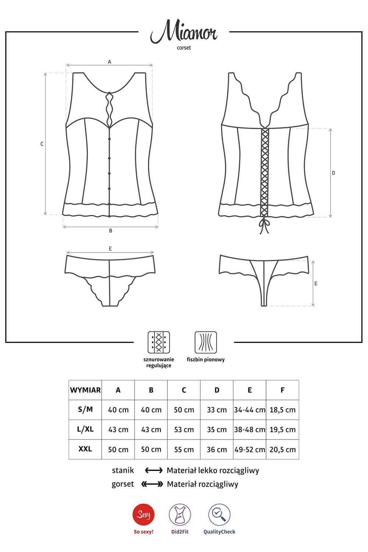 gorset Obsessive Miamor corset