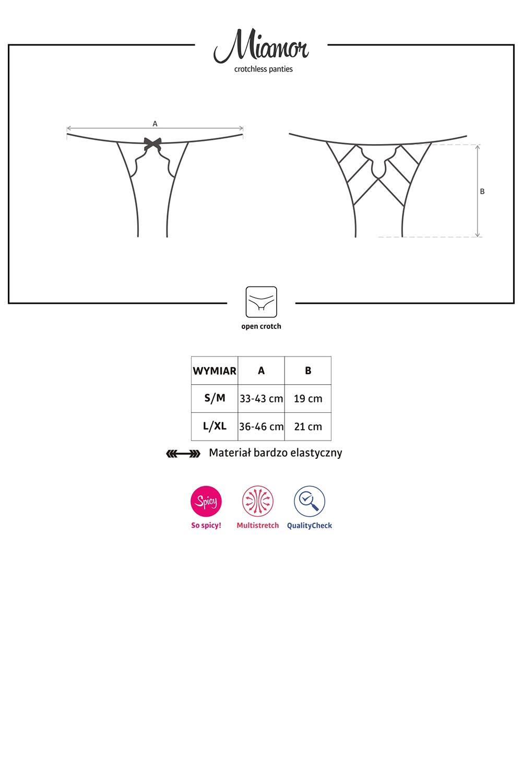 Figi Obsessive Miamor crotchless panties