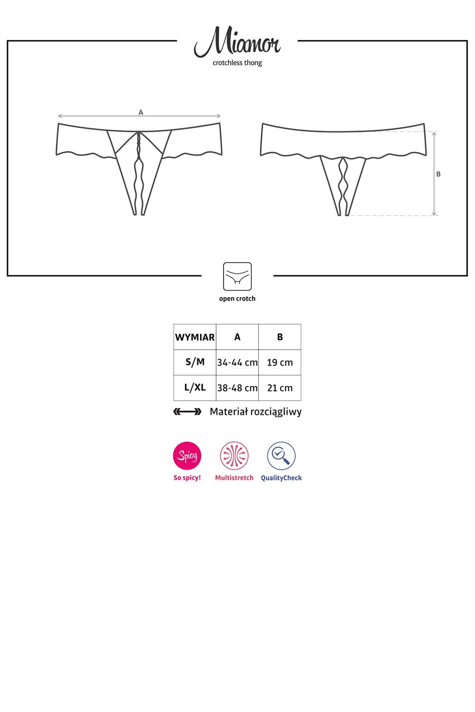 Stringi Obsessive Miamor crotchless thong