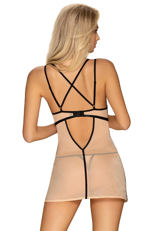 Obsessive Nudelia Noir chemise - beżowy