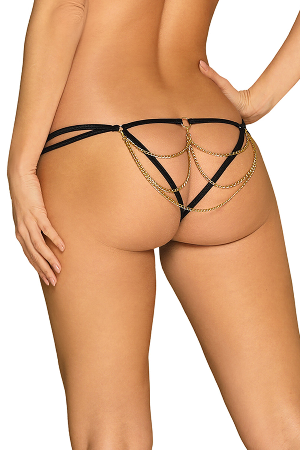 Obsessive Pantheria thong - czarny
