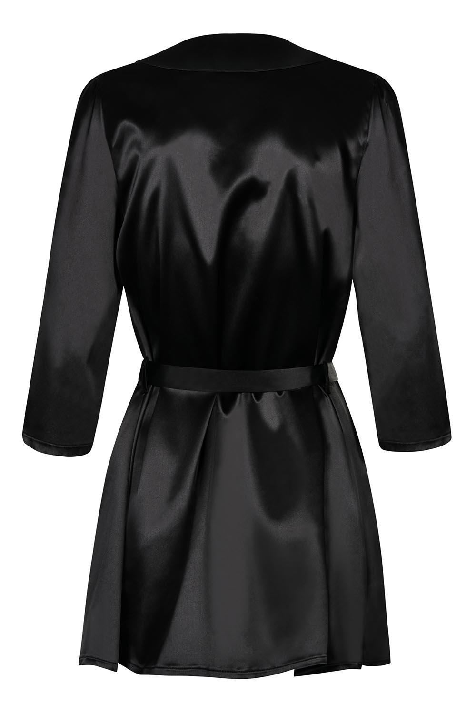 szlafrok Obsessive Satinia robe black - zoom