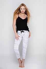 Sensis - Piżama Antonella czarno-biały