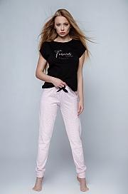 Sensis - Piżama Forever czarno-różowy
