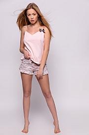 Sensis - Piżama Miracle różowo-szary