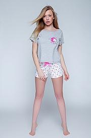 Sensis - Piżama Pony szaro-biały